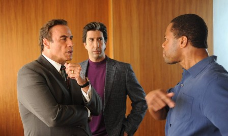 John Travolta, David Schwimmer e Cuba Gooding Jr.