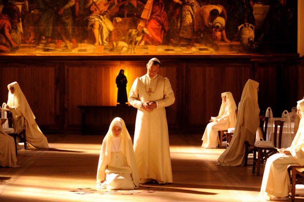 """set of """"The young Pope"""" by Paolo Sorrentino. ep. X In the picture Jude Law. Photo by Gianni Fiorito"""