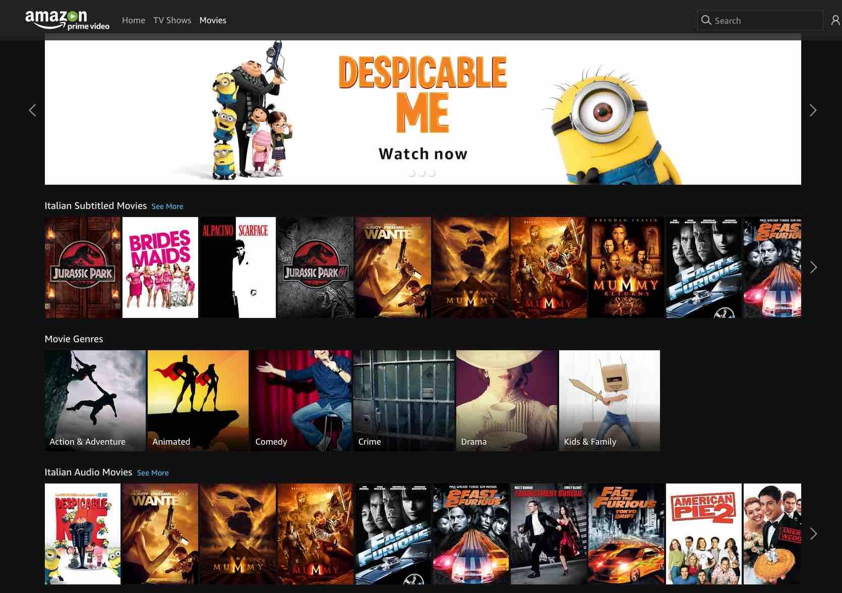 Prime Video  Movies