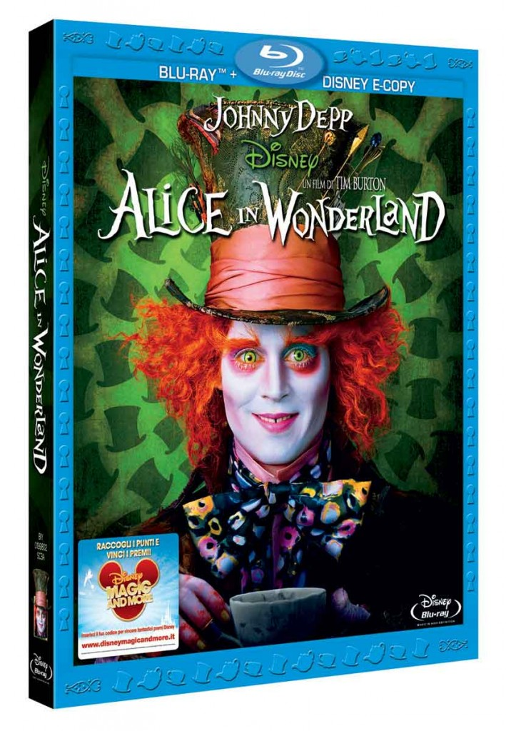 Arriva in dvd e blu ray disc quot alice wonderland di tim